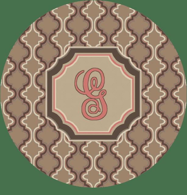Lanikai Monogrammed Pink Area Rug Letter: G