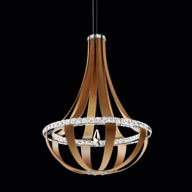 Crystal Empire 16-Light  LED Empire Pendant Base Finish: Chinook, Color Temperature: 4000K
