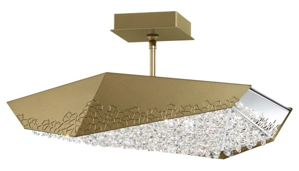 Glyph 6-Light  LED  Pendant Base Finish: Bronze, Color Temperature: 4000K