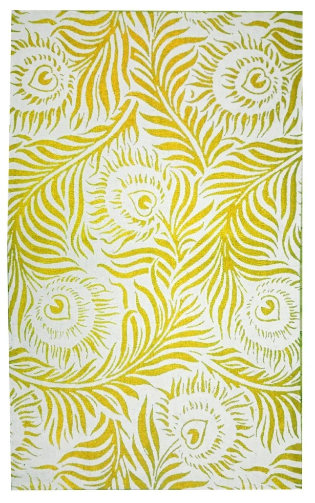 Peacock Gold Area Rug Rug Size: 3' x 5'