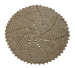 Tan Area Rug Rug Size: Round 3'