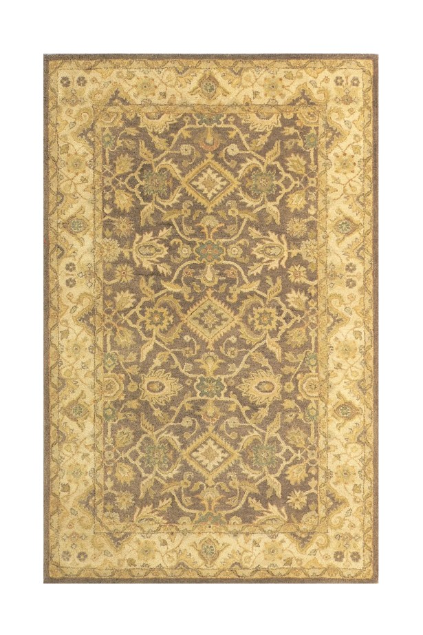 Brown/Sand Area Rug Rug Size: Rectangle 3'6