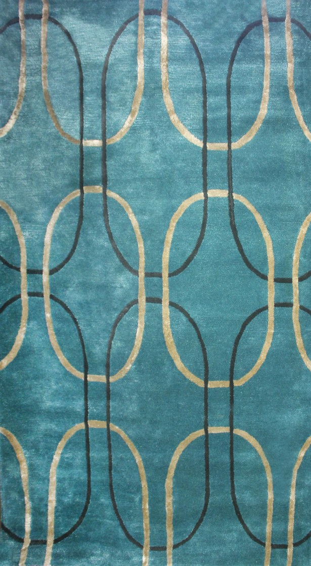 Barba Blue Pea Area Rug Rug Size: Rectangle 5' x 8'