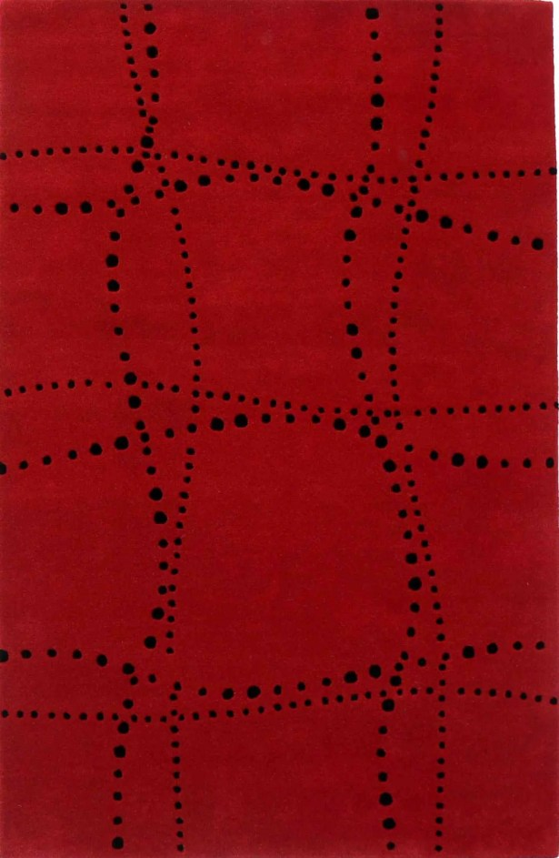 Laverriere Wave Red Rug Rug Size: 5' x 8'