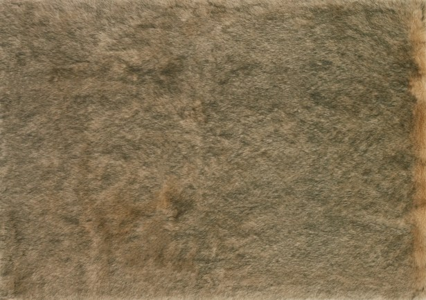 Ashleigh Faux Fur Beige/Black Area Rug Rug Size: Rectangle 10' x 13'