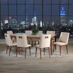Dining Table Sets Tatro 9 Piece Solid Wood Dining Set