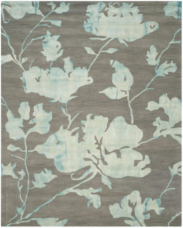 Danny Gray/Turquoise Area Rug Rug Size: Rectangle 9' x 12'
