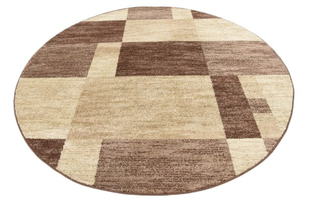 Bryan Light Brown Geometric Area Rug Rug Size: Round 8'