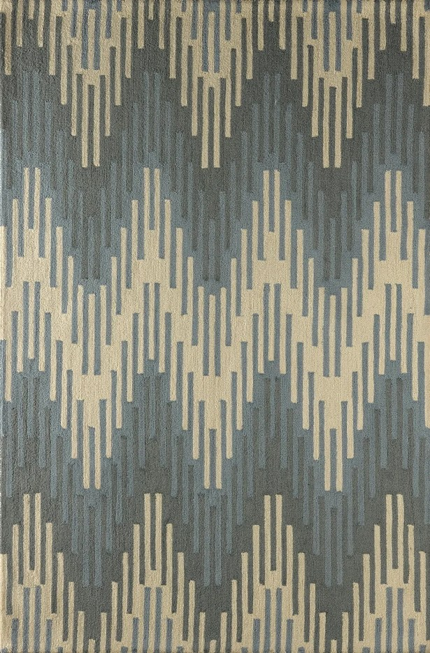 Flanary Hand-Tufted Sky Area Rug Rug Size: Rectangle 4' x 6'