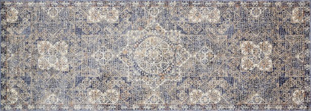 Dietrick Hand-Hooked Blue Area Rug Rug Size: Runner 2'8