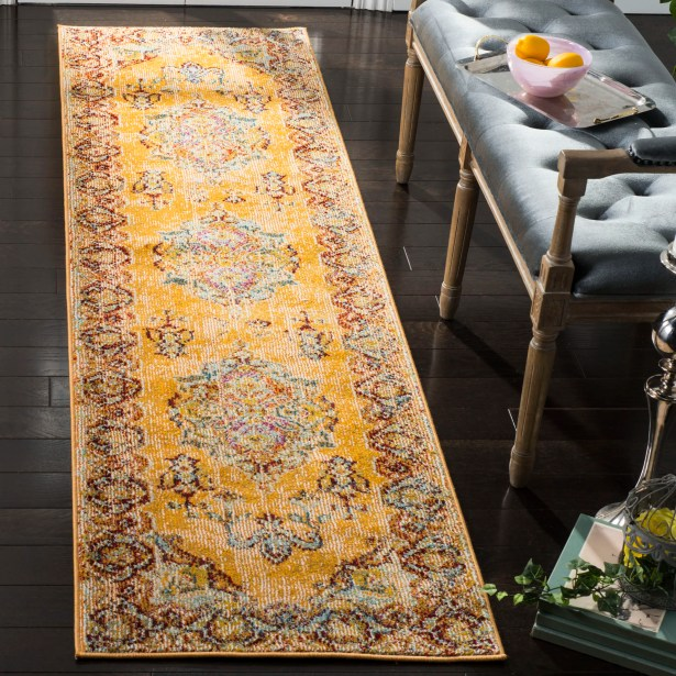Mcintosh Boho Yellow Area Rug  Rug Size: Runner 2'3