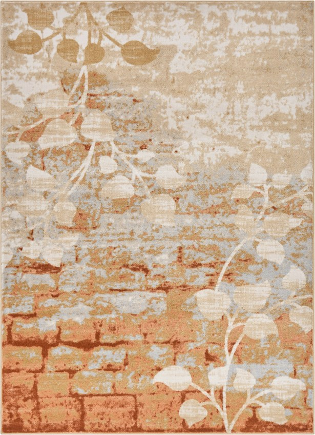 Coalgate Orange Copper Area Rug Rug Size: 7'10