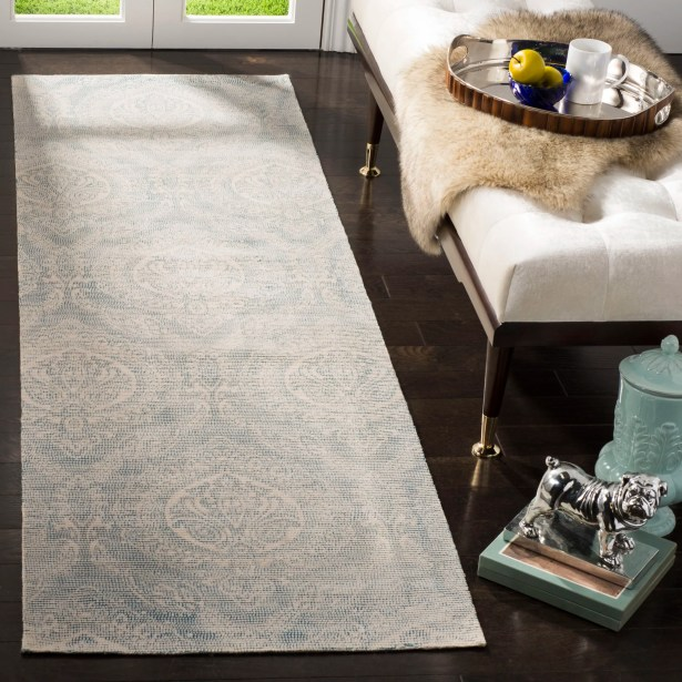 Mellie Hand Tufted Turquoise Area Rug Rug Size: Rectangle 6' x 9'