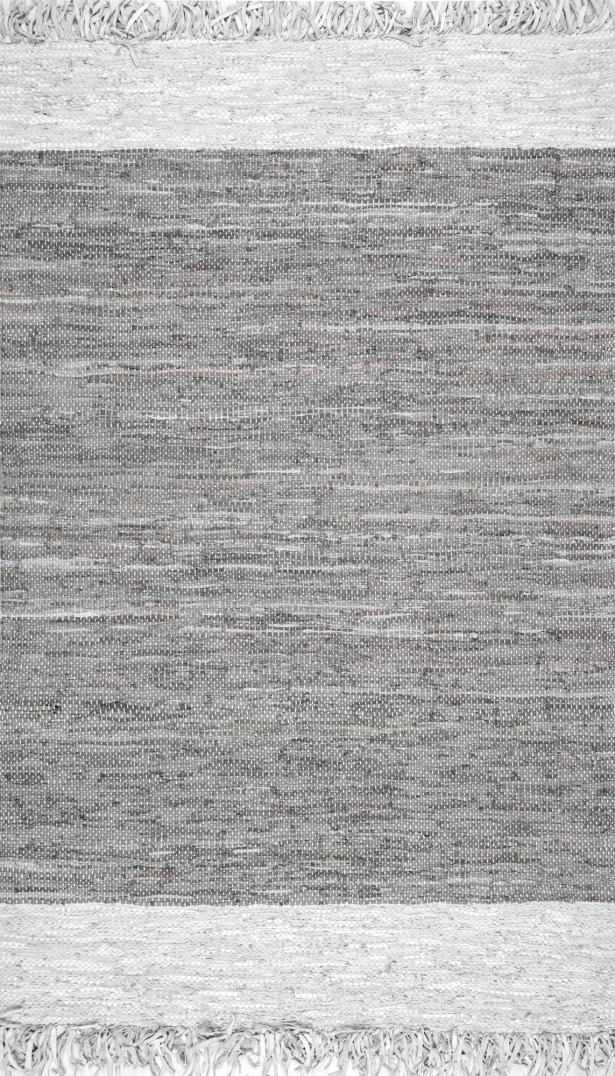 Emrich Hand-Woven Gray Area Rug Rug Size: Rectangle 7'6