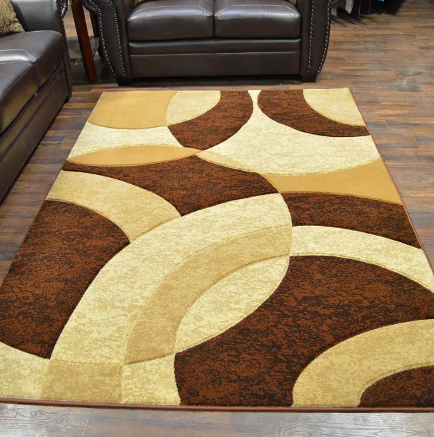 Mccampbell Brown/Cream Area Rug Rug Size: Rectangle 5' x 7'