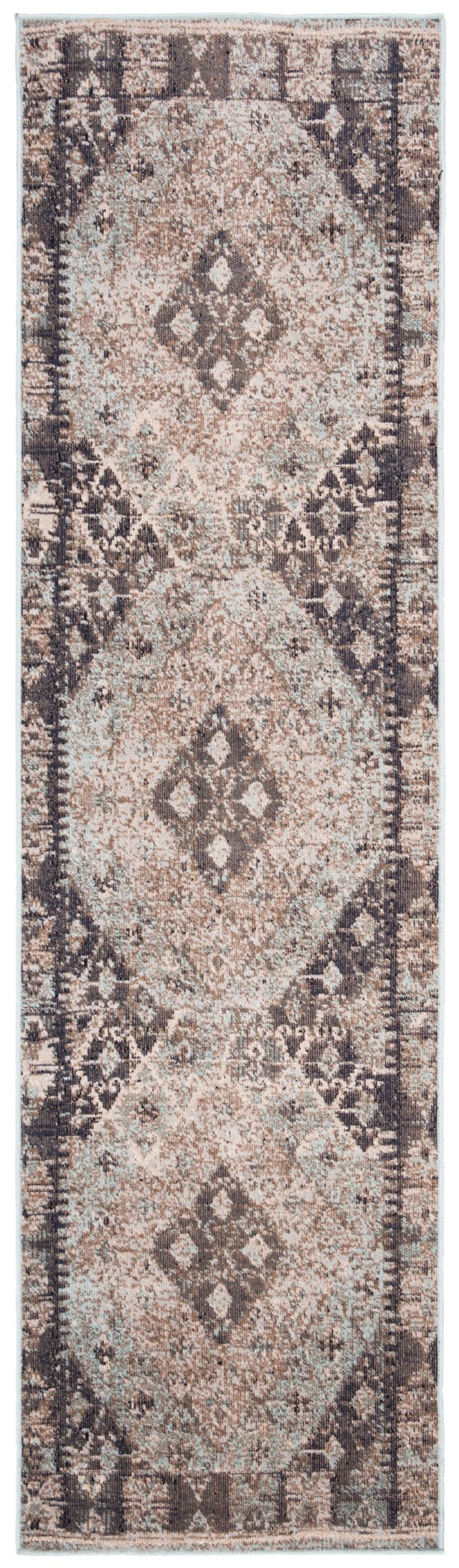 Griffeth Blue/Gray Area Rug Rug Size: Runner 2'3