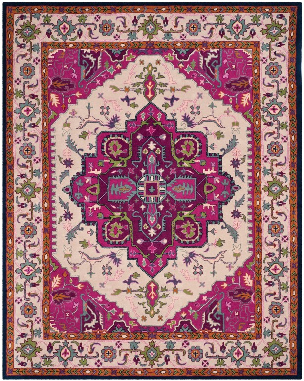 Blokzijl Hand-Tufted Wool Purple Area Rug Rug Size: Rectangle 8' x 10'