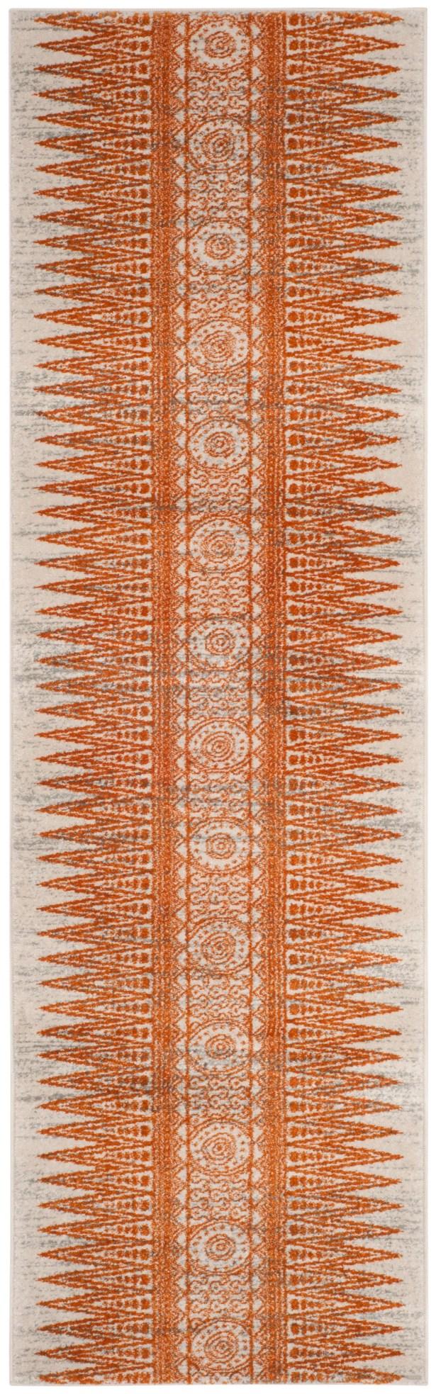 Elson Ivory/Orange Area Rug Rug Size: Runner 2'2