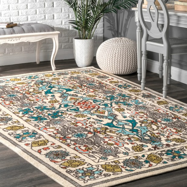 Collins Blue/Yellow Area Rug Rug Size: Rectangle 4' x 6'