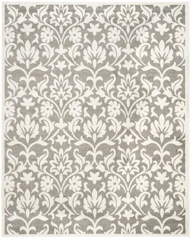 Wason Dark Grey/Beige Area Rug Rug Size: Rectangle 8' x 10'