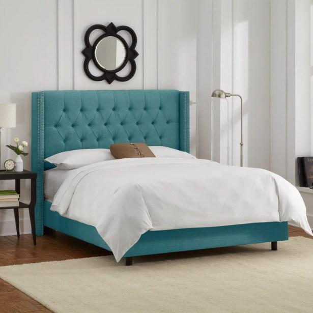 Davina Upholstered Panel Bed Size: King, Color: Laguna