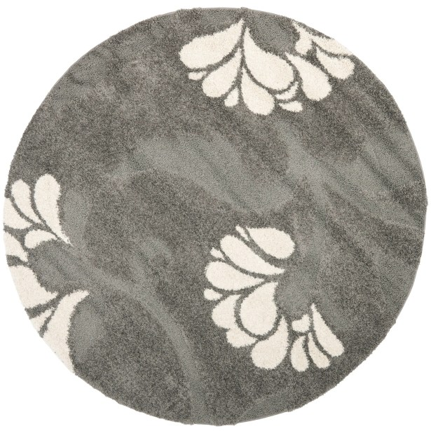Marybell Gray/Beige Area Rug Rug Size: Round 6'7