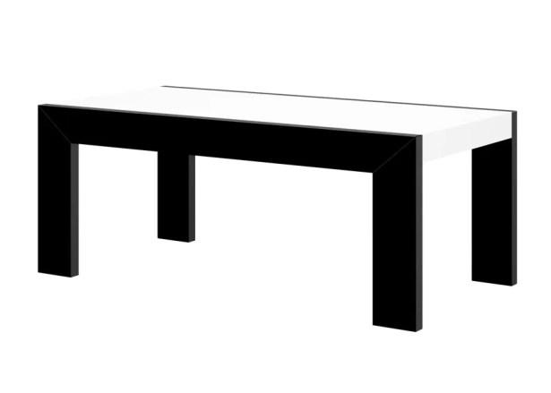 Yasmin Coffee Table Color: Black/White