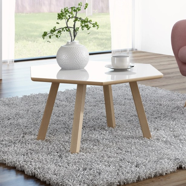 Blandford 4 Legs Coffee Table Top Color: Gloss White