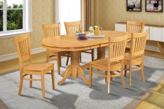 Dining Table Sets Lunde Traditional 7 Piece Extendable Solid Wood Dining Set