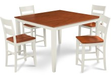 Dining Table Sets Charlestown 5 Piece Counter Height Solid Wood Dining Set