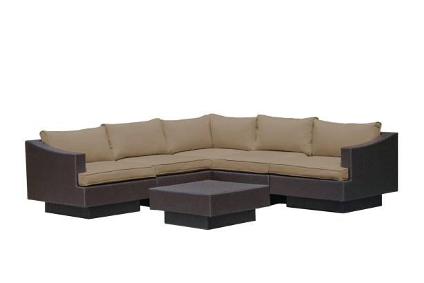 Galina 7 Piece  Sectional Set with Cushions Cushion Color: Khaki