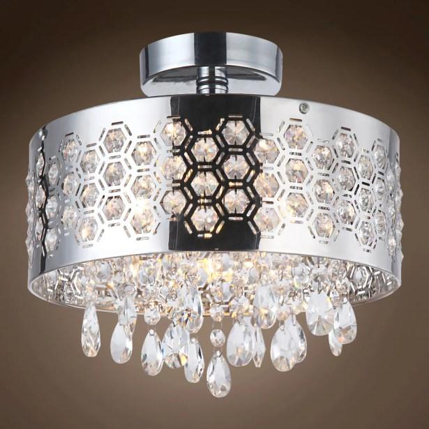 Alexa 4-Light Semi Flush Mount Crystal Grade: Swarovski