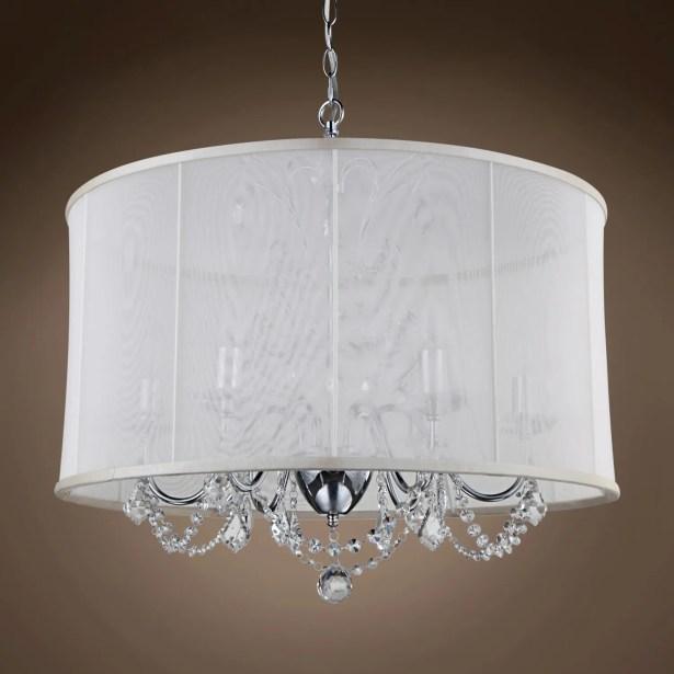 Braye Park 6-Light Chandelier Crystal: Clear Asfour