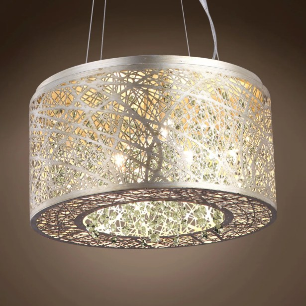 Hodder 7-Light Pendant Bulb Type: Incandescent, Shade Color: Clear, Crystal: Asfour