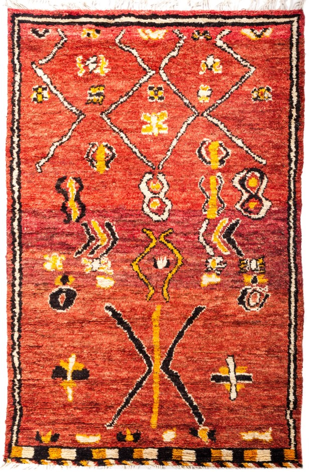 One-of-a-Kind Heiman Hand Knotted Red Area Rug