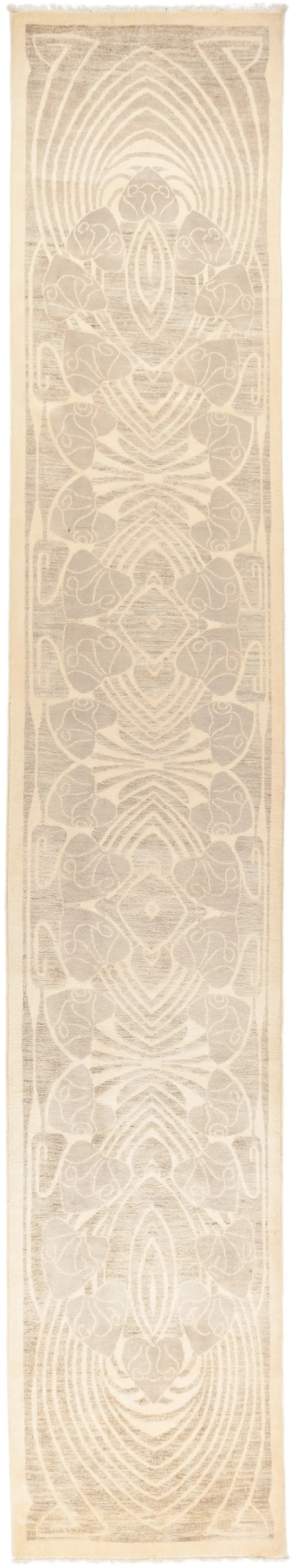 One-of-a-Kind Heiner Hand Knotted Wool Beige Area Rug