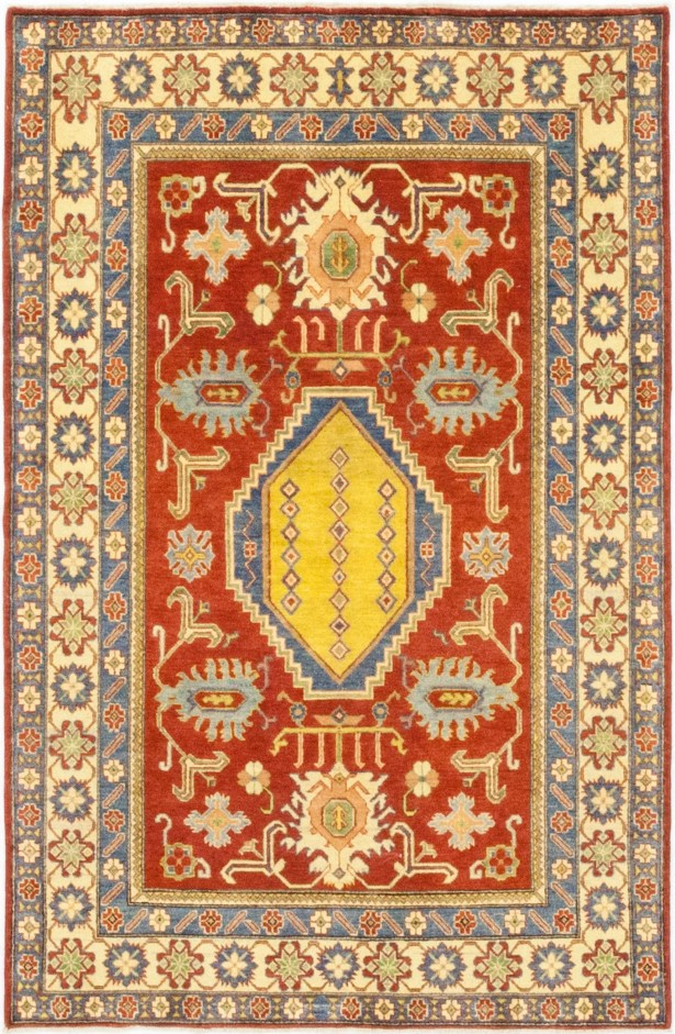 One-of-a-Kind Little Nell Hand-Knotted Wool Red/Beige Indoor Area Rug