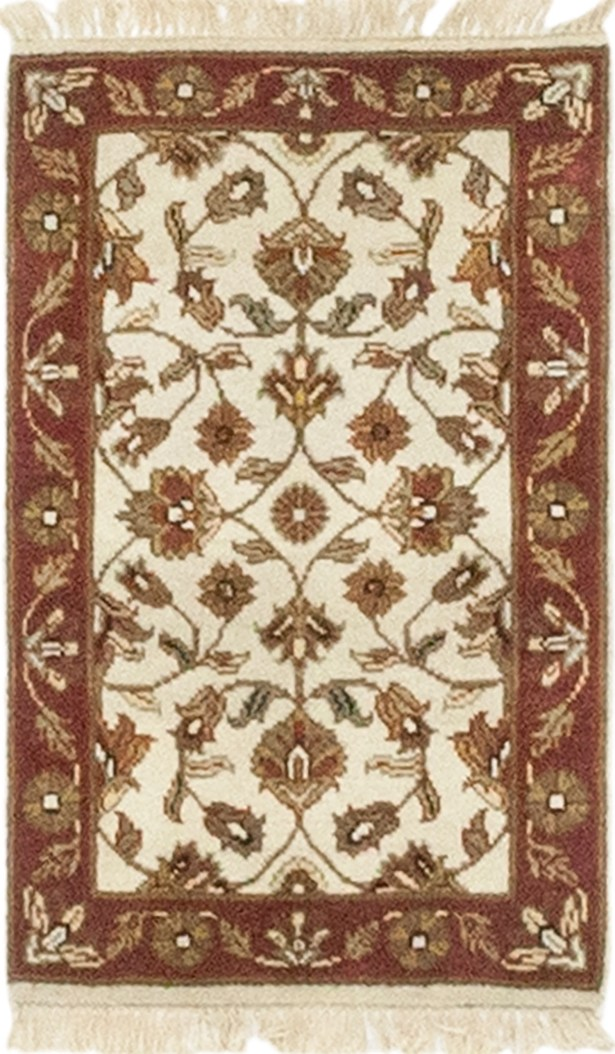 One-of-a-Kind Dionne Hand-Knotted Wool Beige/Brown Indoor Area Rug