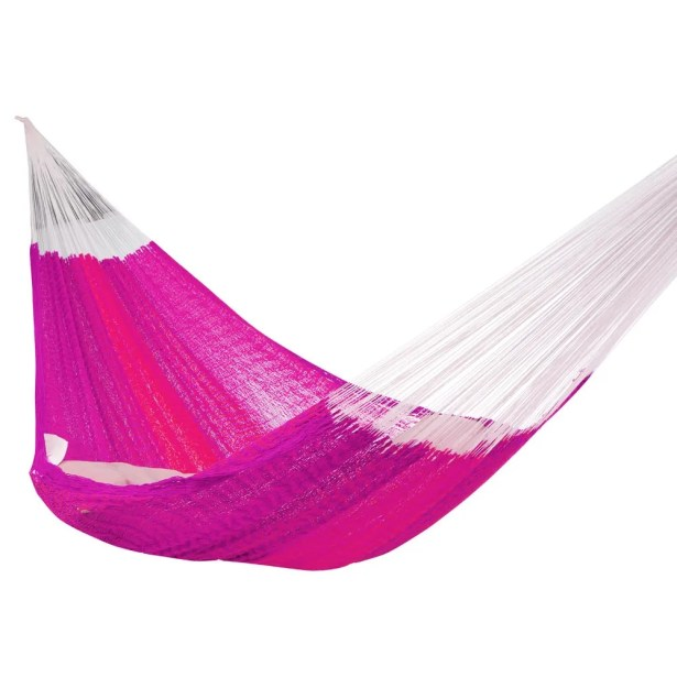 Lisa Double Tree Pink/White Hammock