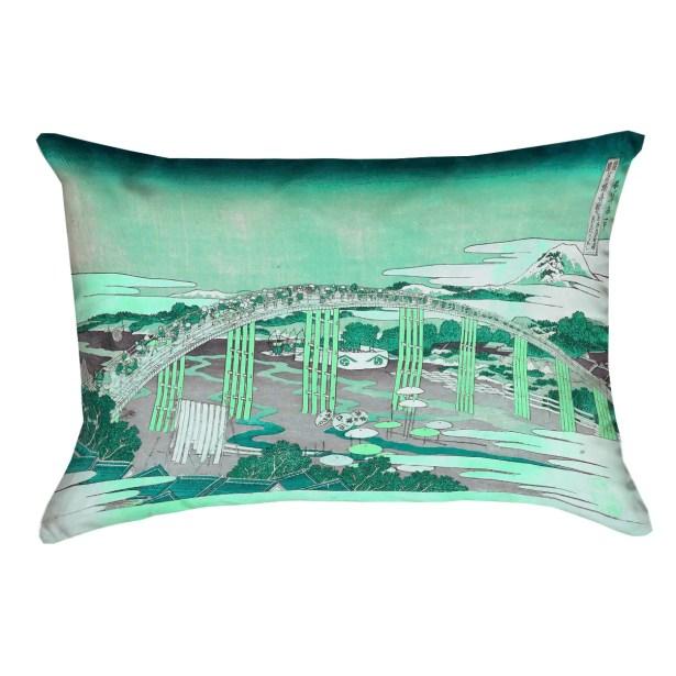 Enya Japanese Bridge Rectangular Lumbar Pillow Size: 14