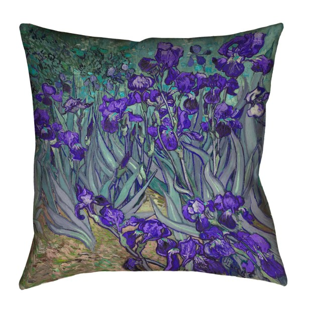 Morley Irises Double Sided Print Square Pillow Cover Size: 14