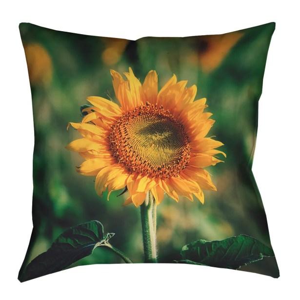 Holst Sunflower Outdoor Throw Pillow Size: 16