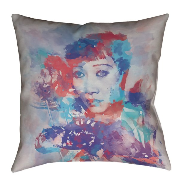 Watercolor Portrait Floor Pillow Size: 40