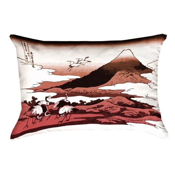 Montreal Japanese Cranes Rectangular Indoor Pillow Cover