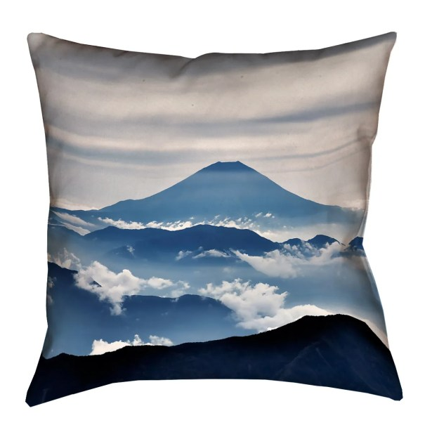 Hashimoto A View of Mt. Fuji Linen Pillow Cover Size: 18