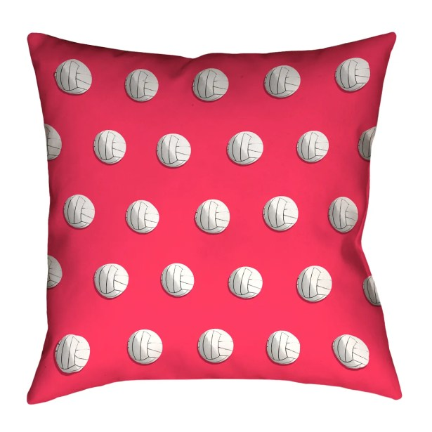 Volleyball Throw Pillow with Zipper Size: 18
