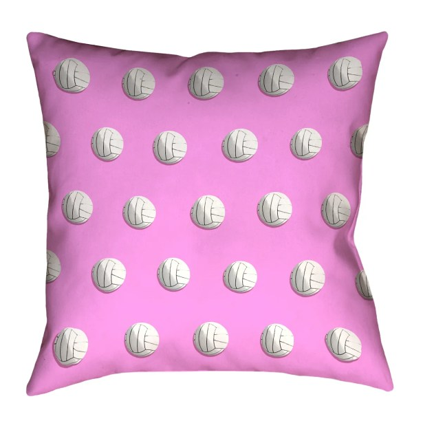 Volleyball Double Sided Print Floor Pillow Size: 36