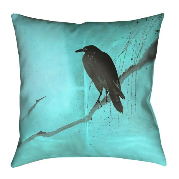 Hansard Crow and Willow Pillow Cover Size: 26