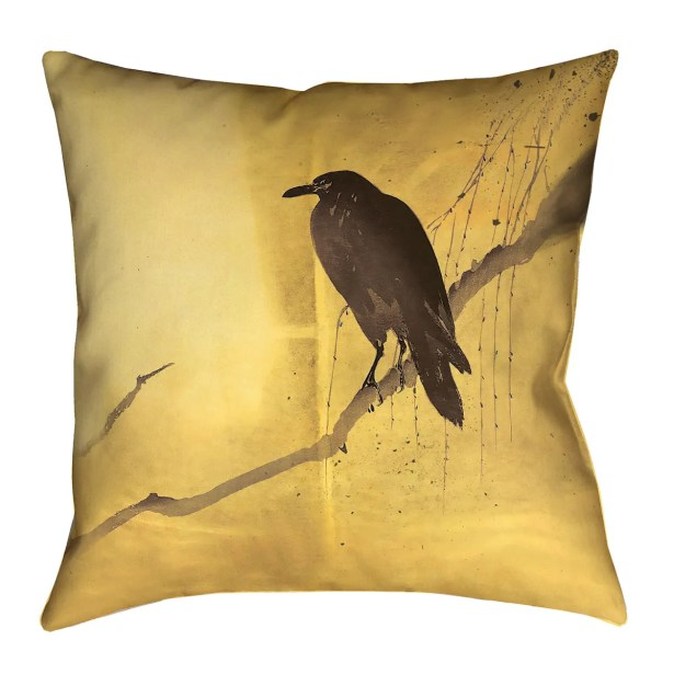 Hansard Crow and Willow Square Indoor Throw Pillow Size: 14
