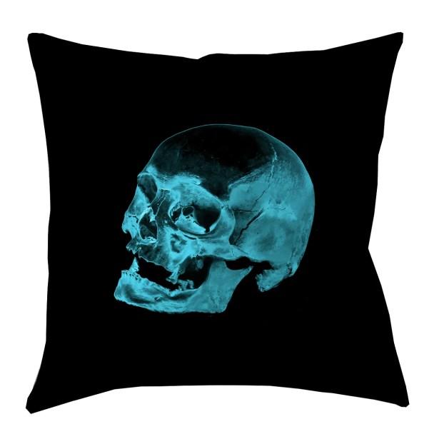 Square Skull Throw Pillow